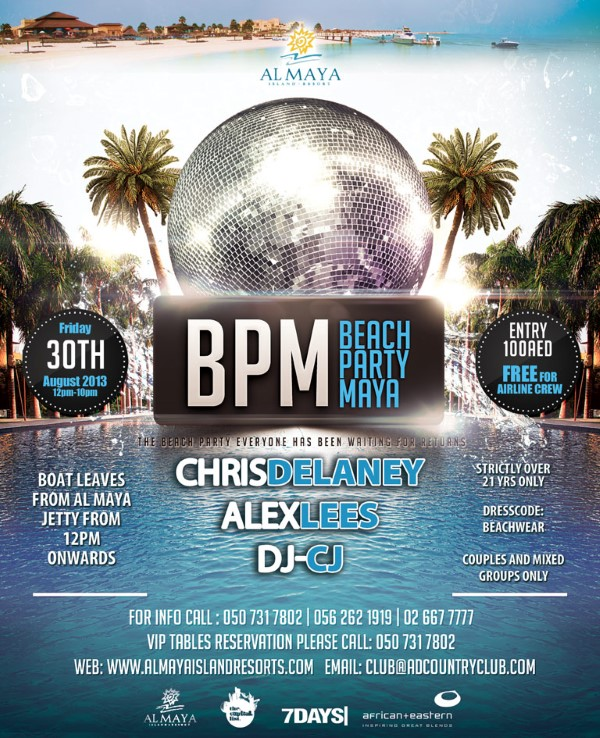 BPM Party! Friday, 30th August!