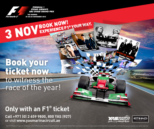 Book your F1™ ticket today!