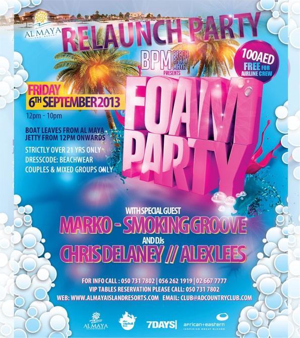 BPM FOAM Party @ Al Maya – September 6th