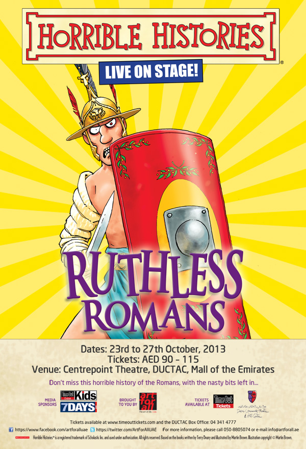 Tickets now on Sale: Horrible Histories - Live on Stage - Ruthless Romans