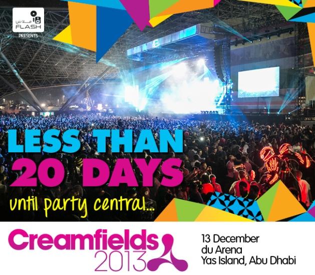 Creamfields Abu Dhabi 2013 DJ Set Times Announced!