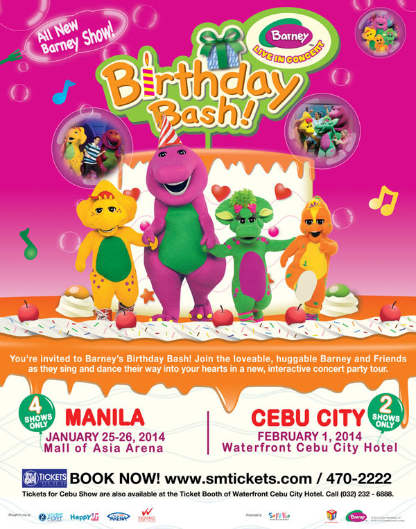 ALL-NEW BARNEY SHOW LIVE IN MANILA & CEBU
