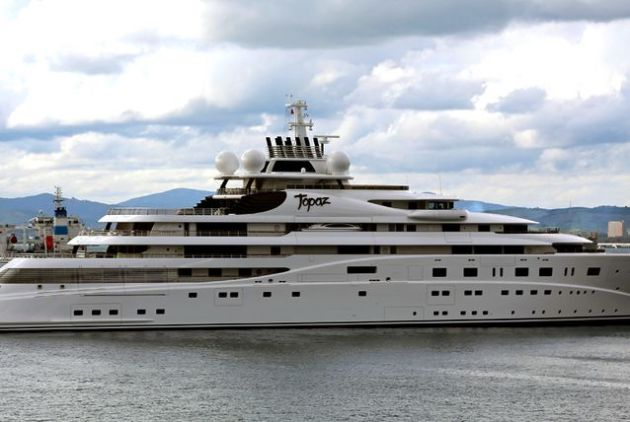 Landing in third spot is Topaz, the 482 foot-long yacht valued at $520 million and owned by Sheikh Mansour bin Zayed Al Nahyan, who is another member of the Abu Dhabi Royal family. Launched in 2012, Topaz was built in the same shipyard as Azzam in Bremen, Germany by Lürssen Yachts.