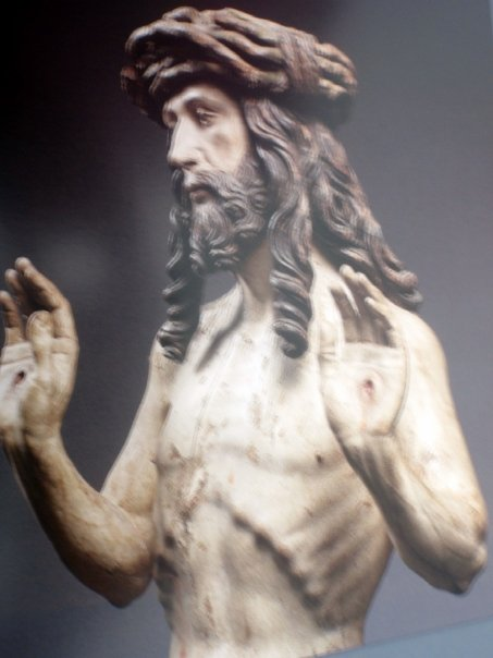 Christ showing his wounds Bavaria or Austria, circa 1515 Limewood, polychrome